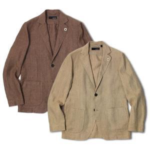 ラルディーニ / LARDINI / シャツ ジャケット / リネン 2釦 2パッチ / AMAJ-EIC1196 / セール / 返品・交換不可|luccicare