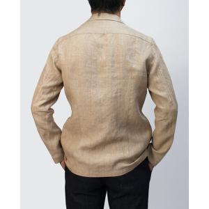 ラルディーニ / LARDINI / シャツ ジャケット / リネン 2釦 2パッチ / AMAJ-EIC1196 / 返品・交換可能|luccicare|05