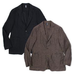 バグッタ / BAGUTTA / シャツ ジャケット / リネン100% / ガーメントダイ ( 製品染め ) /  RICK-GL CN0045 / 返品・交換可能|luccicare