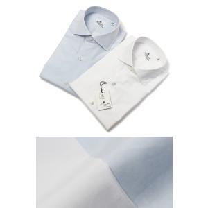 フィナモレ / Finamore / ザンテ / ZANTE / GIZA45 / カッタウェイ ドレス シャツ / 170 a due / 170双 コットン ブロード / MILANO / セール / 返品・交換不可|luccicare
