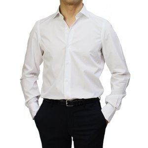 フィナモレ / Finamore / ザンテ / ZANTE / GIZA45 / カッタウェイ ドレス シャツ / 170 a due / 170双 コットン ブロード / MILANO / セール / 返品・交換不可 luccicare 16
