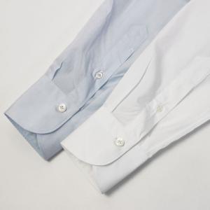 フィナモレ / Finamore / ザンテ / ZANTE / GIZA45 / カッタウェイ ドレス シャツ / 170 a due / 170双 コットン ブロード / MILANO / セール / 返品・交換不可 luccicare 09