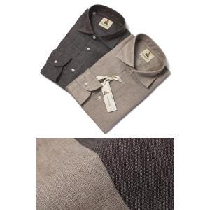 ギローバー / GUY ROVER / シャツ / セミワイドカラー / リネン 製品洗い / S2670L/501300 / セール / 返品・交換不可|luccicare