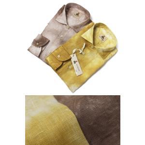 ギローバー / GUY ROVER / シャツ / セミワイドカラー / リネン100% 製品洗い タイダイ染め / S2670L/501158 / セール / 返品・交換不可|luccicare