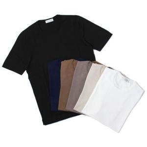 グランサッソ / GRANSASSO / クルーネック ニット Tシャツ / 12G ソフト コットン / 58138 / セール / 返品・交換不可|luccicare