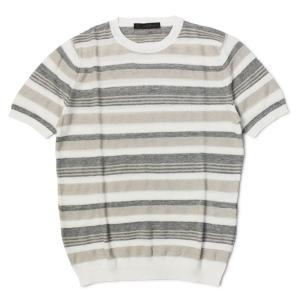 ジョルディーズ / JEORDIE'S / ニット Tシャツ / コットン リネン ボーダー 半袖 / 返品・交換可能|luccicare