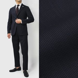 ラルディーニ / LARDINI / JP031AQ / Easy Wear / パッカブル / ウール ピンチェック 撥水ストレッチ スーツ|luccicare