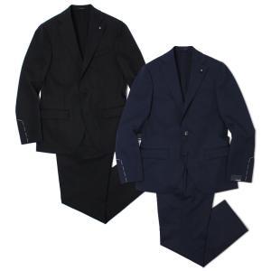 ラルディーニ / LARDINI / JQ0823AQ / ウール ストレッチ 3釦 段返り ワンプリーツ スーツ / 返品・交換可能|luccicare