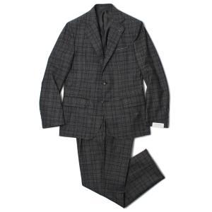 デ ペトリロ / De Petrillo / LINEA NAPOLI / NAPOLI / ウール チェック柄 ワンプリーツ スーツ / 返品・交換可能|luccicare