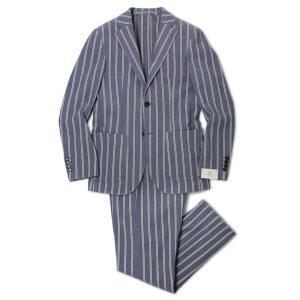 イレブンティ / eleventy / ストレッチ シアサッカー ストライプ 2B シングル スーツ / セール / 返品・交換不可|luccicare