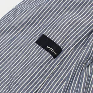 ラルディーニ / LARDINI / JPCM25 / コットン ストライプ 3釦 3パッチ 製品洗い加工 シャツ ジャケット luccicare 07