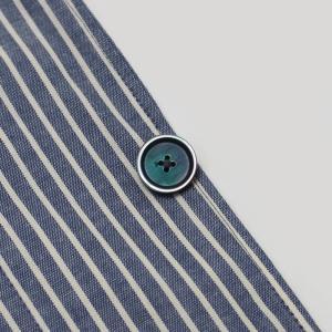 ラルディーニ / LARDINI / JPCM25 / コットン ストライプ 3釦 3パッチ 製品洗い加工 シャツ ジャケット luccicare 10