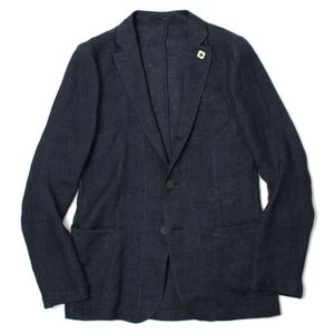 ラルディーニ / LARDINI / JPCM21 / リネン100% 3釦 3パッチ シャツ ジャケット|luccicare
