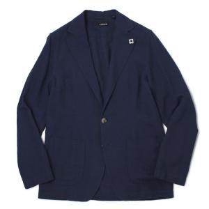 ラルディーニ / LARDINI / AMAJ / コットン リネン製品染め 2釦 2パッチ シャツ ジャケット / 返品・交換可能 luccicare