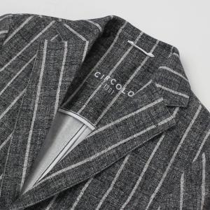チルコロ 1901 / CIRCOLO 1901 / ACU 222111 / ウール風 ストライプ柄 プリント コットン ジャージー セットアップ ジャケット|luccicare|06