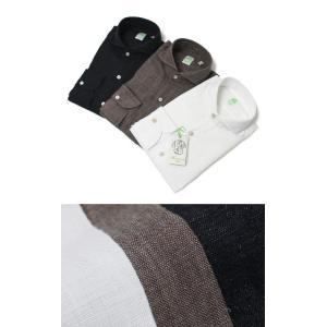 フィナモレ / Finamore / SERGIO / リネン カッタウェイ シャツ / 返品・交換可能|luccicare
