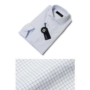 ラルディーニ / LARDINI / EGCIRO / コットン グラフチェック柄 セミワイドカラーシャツ / セール / 返品・交換不可|luccicare