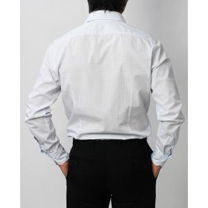 ラルディーニ / LARDINI / EGCIRO / コットン グラフチェック柄 セミワイドカラーシャツ / セール / 返品・交換不可 luccicare 04