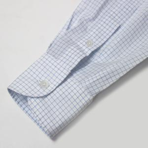 ラルディーニ / LARDINI / EGCIRO / コットン グラフチェック柄 セミワイドカラーシャツ / セール / 返品・交換不可 luccicare 09