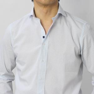 ラルディーニ / LARDINI / EGCIRO / コットン グラフチェック柄 セミワイドカラーシャツ / セール / 返品・交換不可 luccicare 10