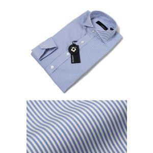 ラルディーニ / LARDINI / EGCIRO / コットン ストライプ柄 セミワイドカラー シャツ / セール / 返品・交換不可|luccicare