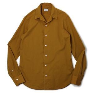 バグッタ / BAGUTTA / JOHNNY GL 09064 / 「Albini社」コットンローン オープンカラー シャツ / 返品・交換不可|luccicare