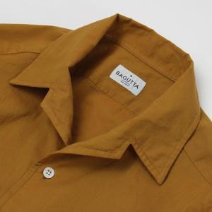 バグッタ / BAGUTTA / JOHNNY GL 09064 / 「Albini社」コットンローン オープンカラー シャツ|luccicare|05
