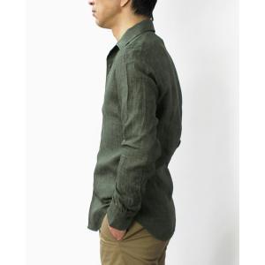 バグッタ / BAGUTTA / JOHNNY GL 09064 / 製品染めリネン オープンカラー シャツ luccicare 03