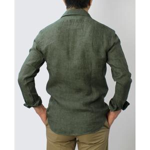 バグッタ / BAGUTTA / JOHNNY GL 09064 / 製品染めリネン オープンカラー シャツ luccicare 04