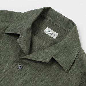 バグッタ / BAGUTTA / JOHNNY GL 09064 / 製品染めリネン オープンカラー シャツ luccicare 05