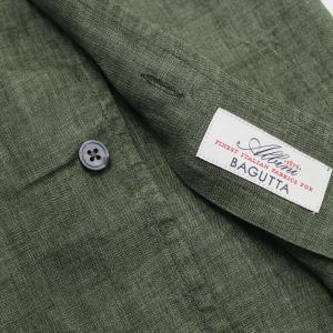 バグッタ / BAGUTTA / JOHNNY GL 09064 / 製品染めリネン オープンカラー シャツ luccicare 06