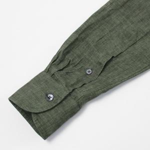 バグッタ / BAGUTTA / JOHNNY GL 09064 / 製品染めリネン オープンカラー シャツ luccicare 09