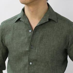 バグッタ / BAGUTTA / JOHNNY GL 09064 / 製品染めリネン オープンカラー シャツ luccicare 10
