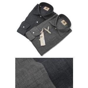 ギローバー / GUY ROVER / S2670L/591308 / リネン ウォッシュ セミワイドカラー シャツ|luccicare