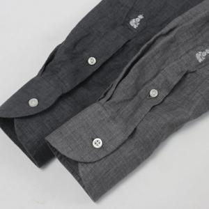 ギローバー / GUY ROVER / S2670L/591308 / リネン ウォッシュ セミワイドカラー シャツ|luccicare|11