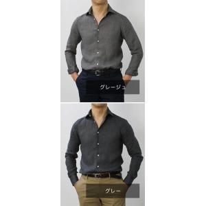 ギローバー / GUY ROVER / S2670L/591308 / リネン ウォッシュ セミワイドカラー シャツ|luccicare|14