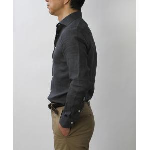 ギローバー / GUY ROVER / S2670L/591308 / リネン ウォッシュ セミワイドカラー シャツ|luccicare|04