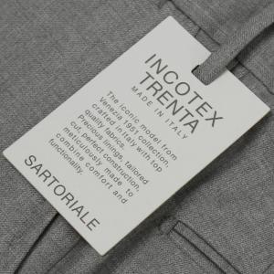 インコテックス / INCOTEX / イタリアメイド サルトリアライン / SLIM FIT / ウール カシミヤ サージ 30型 ノープリーツ スラックス|luccicare|11