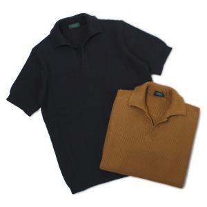 ザノーネ / ZANONE / 7G コットン ニット スキッパー ポロシャツ / 返品・交換可能|luccicare