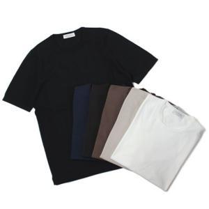 グランサッソ / GRANSASSO / 12G ソフトコットン クルーネック ニット Tシャツ / 返品・交換不可|luccicare