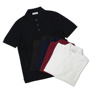 グランサッソ / GRANSASSO / 12G ソフトコットン ニット ポロシャツ / 返品・交換不可|luccicare