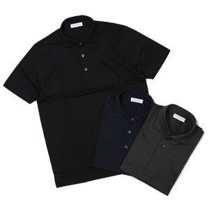 グランサッソ / GRANSASSO / マーセライズ コットン シルケット加工 NEW ポロシャツ / 返品・交換不可|luccicare