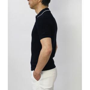 グランサッソ / GRANSASSO / トリミング フレッシュコットン 12G ニット スキッパー ポロシャツ / 返品・交換可能|luccicare|04