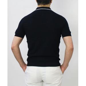 グランサッソ / GRANSASSO / トリミング フレッシュコットン 12G ニット スキッパー ポロシャツ / 返品・交換可能|luccicare|05