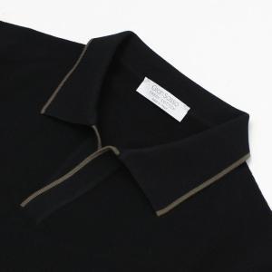グランサッソ / GRANSASSO / トリミング フレッシュコットン 12G ニット スキッパー ポロシャツ / 返品・交換可能|luccicare|06