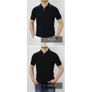 グランサッソ / GRANSASSO / トリミング フレッシュコットン 12G ニット スキッパー ポロシャツ / 返品・交換可能|luccicare|10