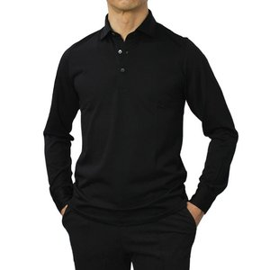 グランサッソ / GRANSASSO / ウール ジャージー ロングスリーブ ポロシャツ / 返品・交換可能 luccicare 13