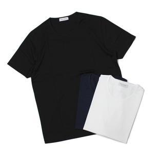 グランサッソ / GRANSASSO / マーセライズ コットン シルケット加工 クルーネック Tシャツ / 返品・交換不可|luccicare