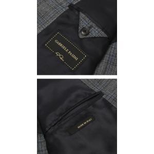 ガブリエレ パジーニ / G.Pasini / ウール チェック柄 2B シングル スリーピース ワンプリーツ スーツ / セール / 返品・交換不可|luccicare|09