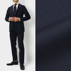 【国内正規品】S/S 新作 LARDINI ( ラルディーニ ) / Easy Wear / パッカブル / ウール ストレッチ ピンチェック スーツ|luccicare